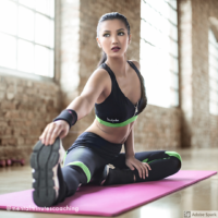 girl stretching for yoga